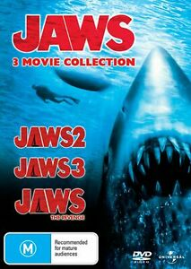 Jaws 2 + Jaws 3 + Jaws 4 The Revenge DVD 3-MOVIE COLLECTION BRAND NEW R4