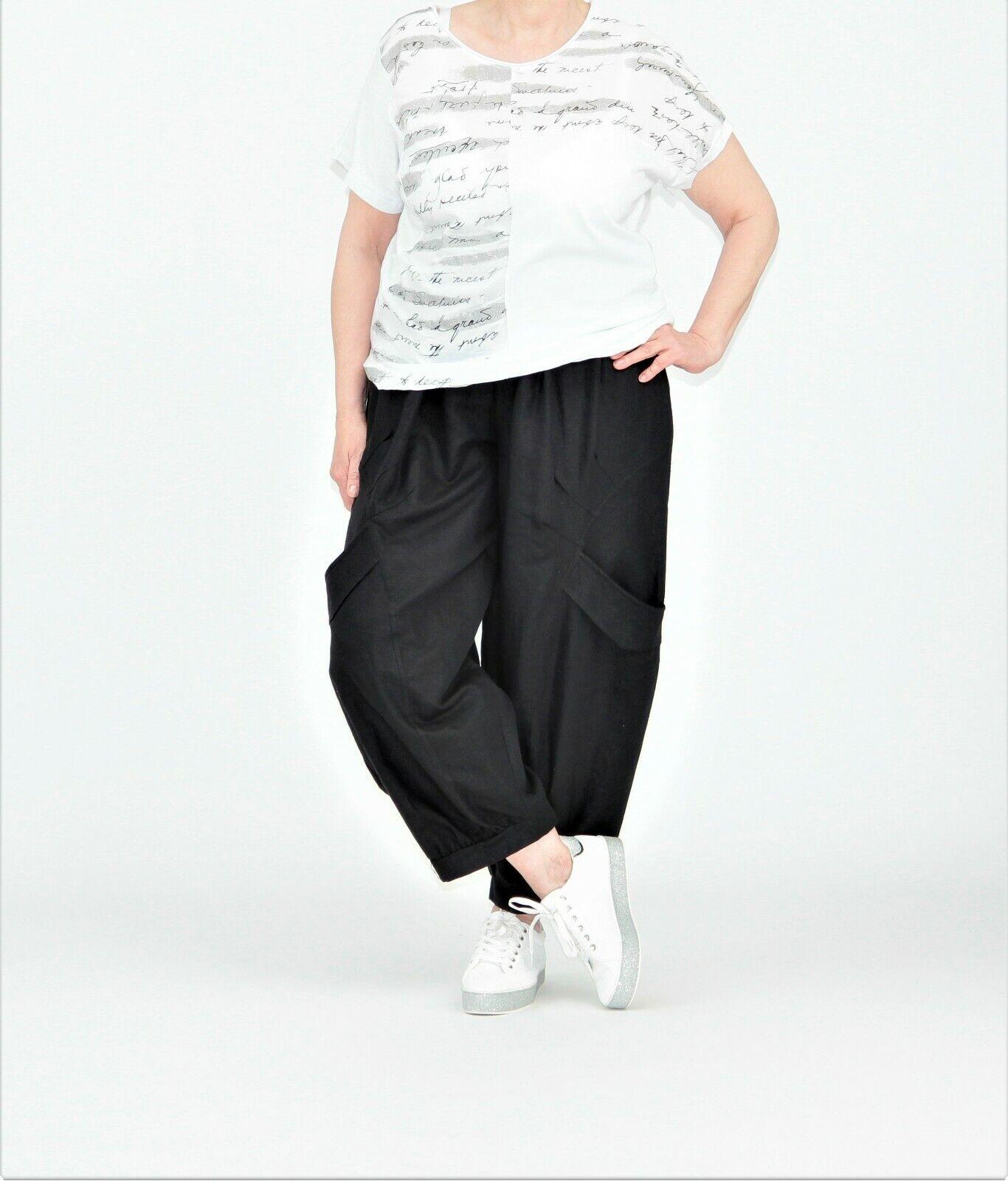 632a33ba7012ac AKH Fashion Ballon-Hose EG schwarz, mit Bündchen ♢ ♢ 44,46,48,50,52,54  nowxeq841-Hosen