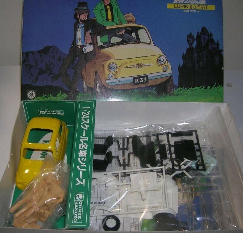 Lupin III III III & FIAT 500Gunze Sangyo (Made in Japan) 1 24 NUOVO - NEW b72484