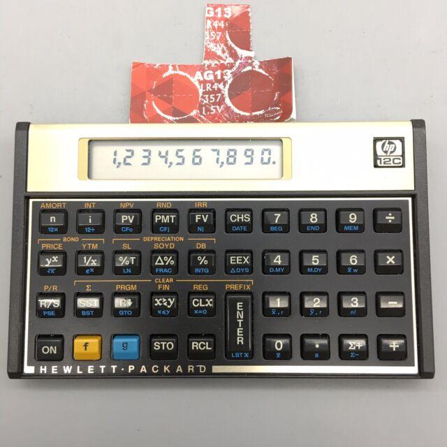 Hewlett Packard HP 12C Calculator And New Batteries - Fast Shipping - H30