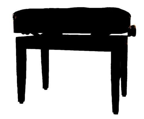 Klavierbank-Sitz-Hocker KL10,schwarz-hochglanz,höhenverstellbar,mit Notenfach!