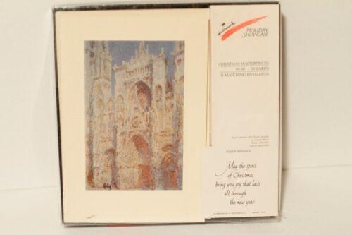 Hallmark Vintage Christmas Cards Claude Monet Rouen Cathedral NEW
