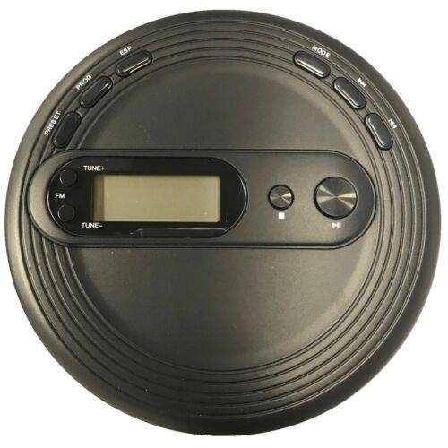 WITH FM RADIO /& ANTI-SKIP PROTECTION ONN PORTABLE CD PLAYER BLACK
