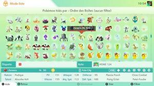 POKEMON-HOME-MEGA-PACK-2000-pokemon-tous-normal-shiny-event-Gen1-7