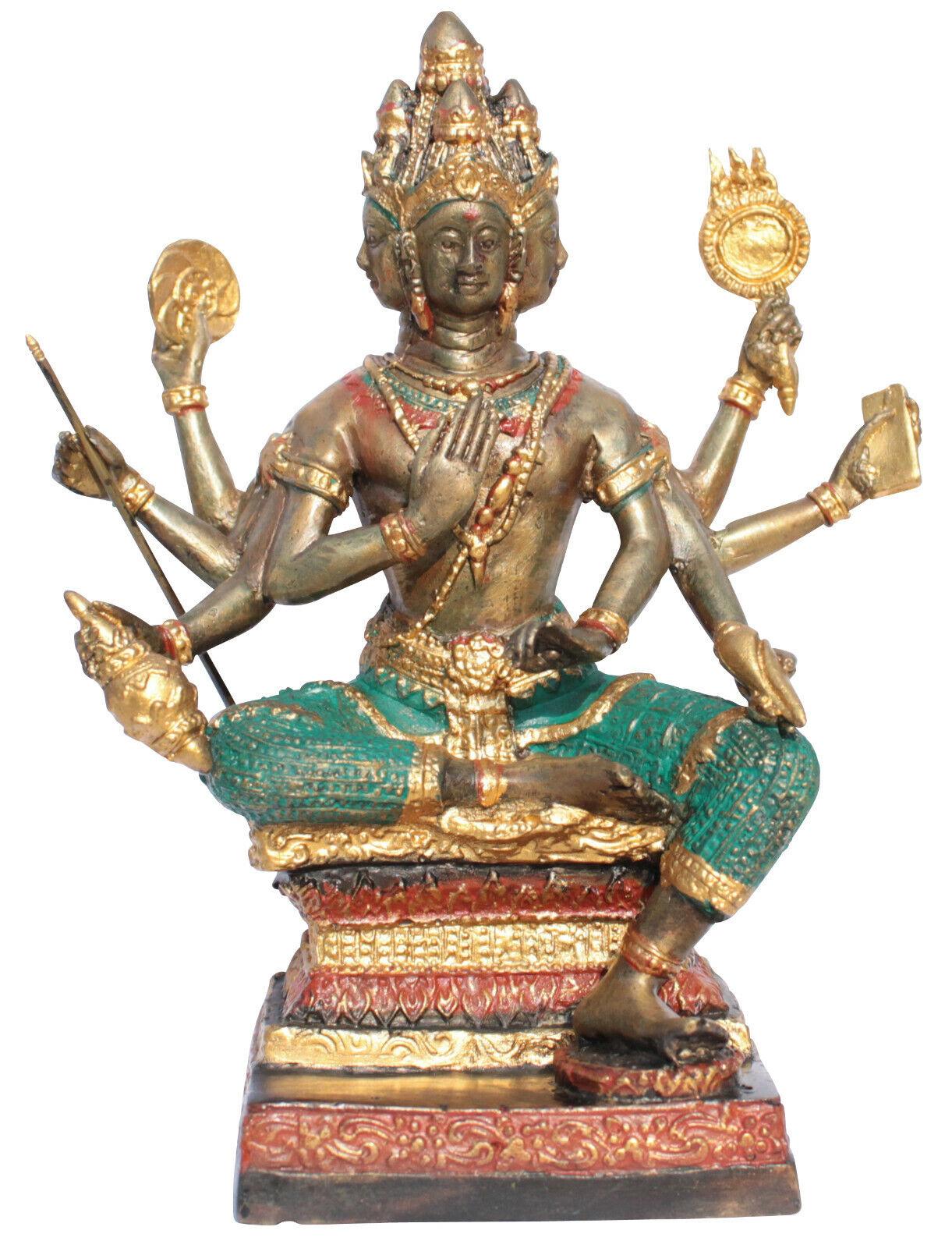 Brahma dios de la creación bronce-estatua 19cm Buda budismo hinduismo Budda