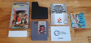 Contra Nintendo NES lot Box Manual Book Inserts Complete CIB Konami Lot TESTED !