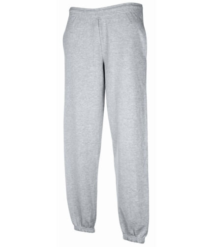 Fruit Of The Loom Mens Elasticated Cuff Jog Pants Jogging Bottoms Size S-XXL