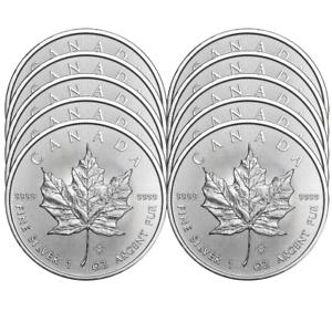 2019 $5 Silver Canadian Maple Leaf 1 oz Brilliant Uncirculated