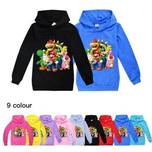 Pants New Gift Super Mario Boys/' Spring and Autumn Long Sleeve Hoodies