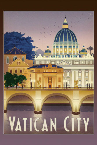 Vatican City Vatican City Metal Sign Signboard Arched Metal Tin Sign 20 x 30 Cm
