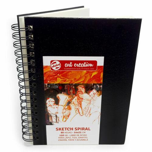 Royal Talens Hardback Sketch Book 80 Leaf Spiral Bound 14X21 cm 110gsm