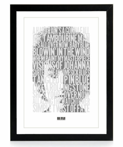 Ready To Frame Available in 3 Sizes Bob Dylan Poster Bob Dylan Song Titles