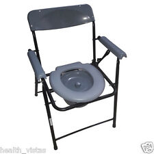 Ryder 210 Commode Chair with Arm & Back Rest, Foldable Frame- Each