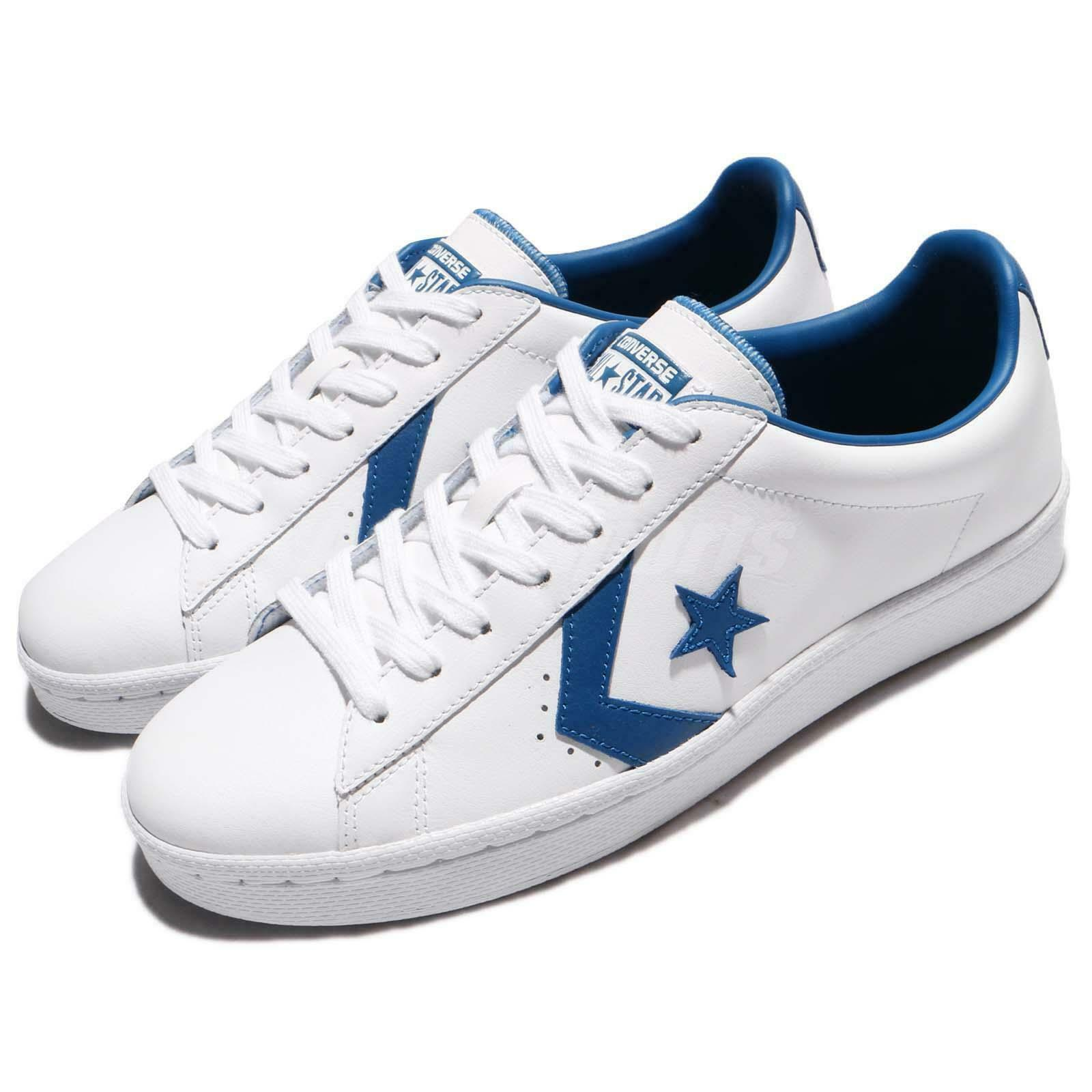 Converse PL 76 Pro Leather blanc bleu Jay hommes Vintage chaussures Turnchaussures 157807C