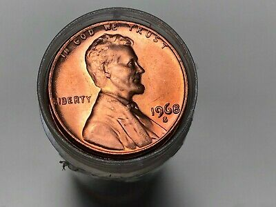 Full Roll 1966 Uncirculated Lincoln Memorial Cents 50 Coins Over 50 Years Old
