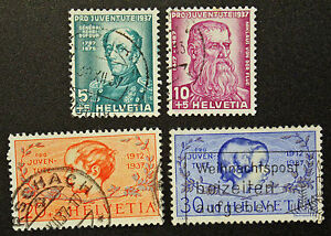 Stamp-Switzerland-Yvert-and-Tellier-N-303-IN-306-F-Obl-Cyn16