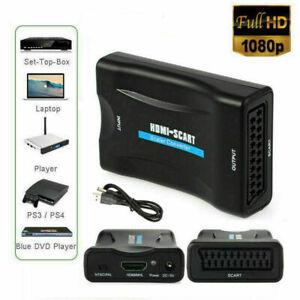 HDMI-zu-SCART-Composite-Video-Converter-Audio-Adapter-mit-USB-Kabel-VCR-DVD-TV