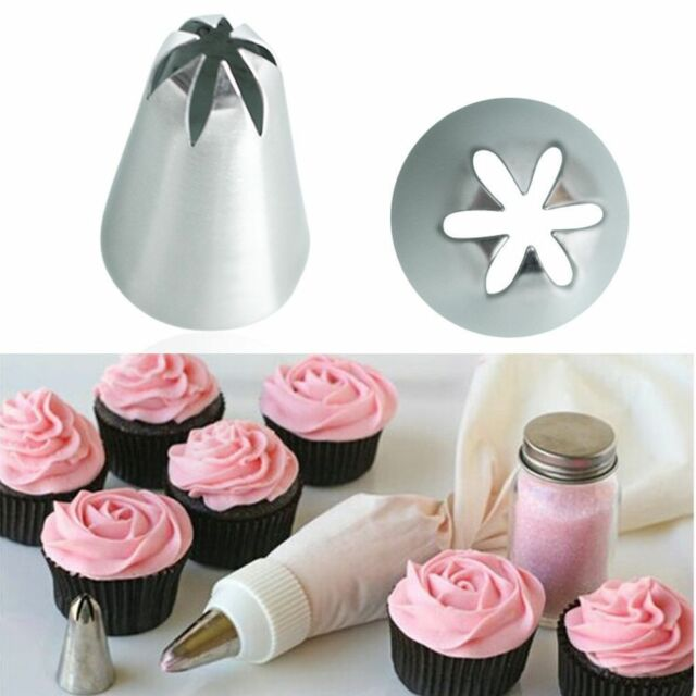 10Pc #2D Large Rose Flower Cream Icing Piping Nozzle Pastry Tips Cake Decoration