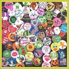 100 Precut assorted Holidays Seasons BOTTLE CAP IMAGES Variety 1 inch discs