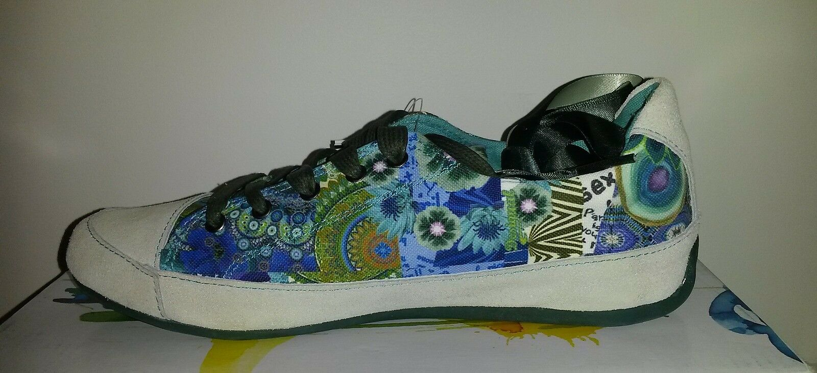 DESIGUAL 51KS1C2/5024 LOLA - Sneaker Baskets Basses mode Turquoise Psyché NEUF