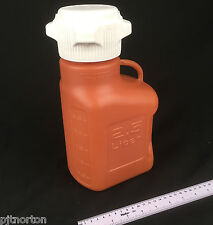 2500ml 2.5L Amber HDPE Carboy with 83mm versacap 2.5 litre Boxed