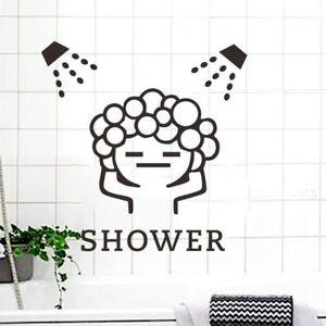 Bathroom Shower Quote Wall Sticker Bubble Bath Relax Decal Window Art Decor MP
