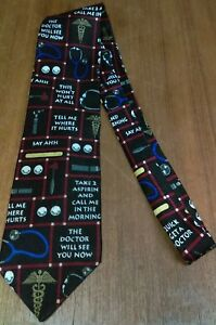 Mens-Ralph-Marlin-RM-Style-Necktie-Doctor-Medical-Pattern