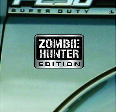 Zombie Hunter Edition Vinyl Decal Car Sticker Badge Vinyl Decal Walking Dead TWD