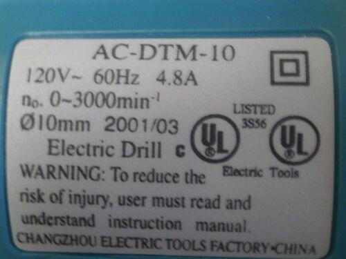 "Nikota 3//8/"" Heavy Duty Reversible Drill  0-3000 RPM"