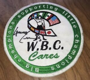 Lennox-Lewis-Signed-WBC-Boxing-Patch-With-Proof
