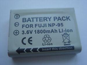 Batteria-per-FujiFilm-Fuji-FinePix-NP-95-NP95-X100-XS-1-F30-REAL-3D-W1-NUOVO