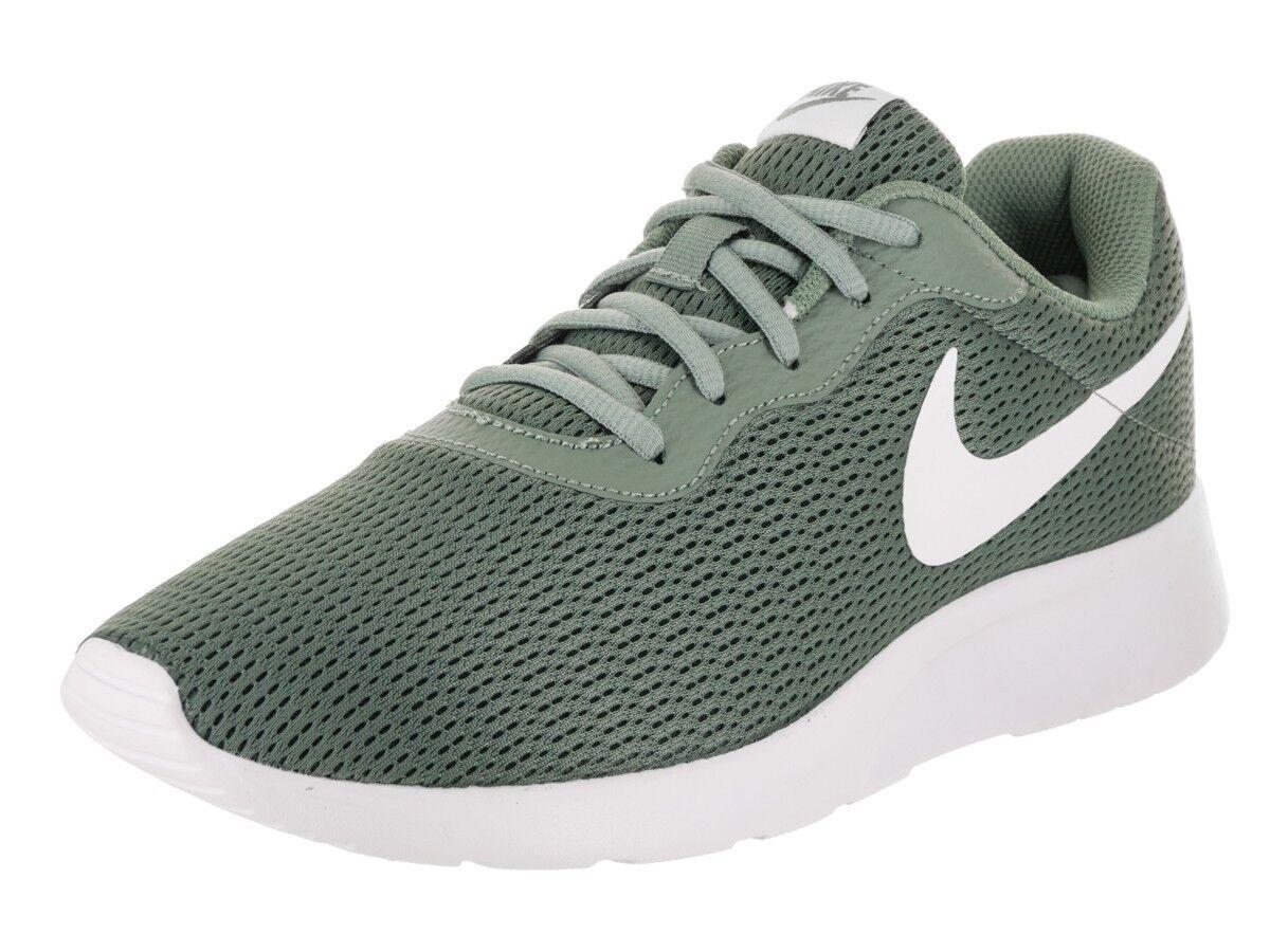 NIKE Men's Tanjun Running Sneaker Clay Green White