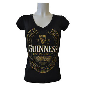 Guinness-Ladies-Label-In-Gold-T-Shirt