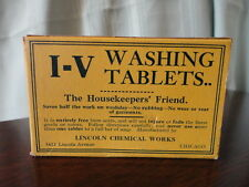 IV Washing Tablets Housekeepers Friend Advertising Box Lincoln Chemical Chicago