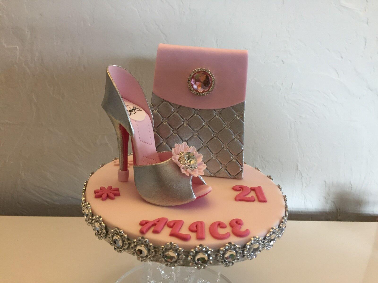 Sugar schuhe & Handbag , designer brand tags, metallics, Top your own Cake