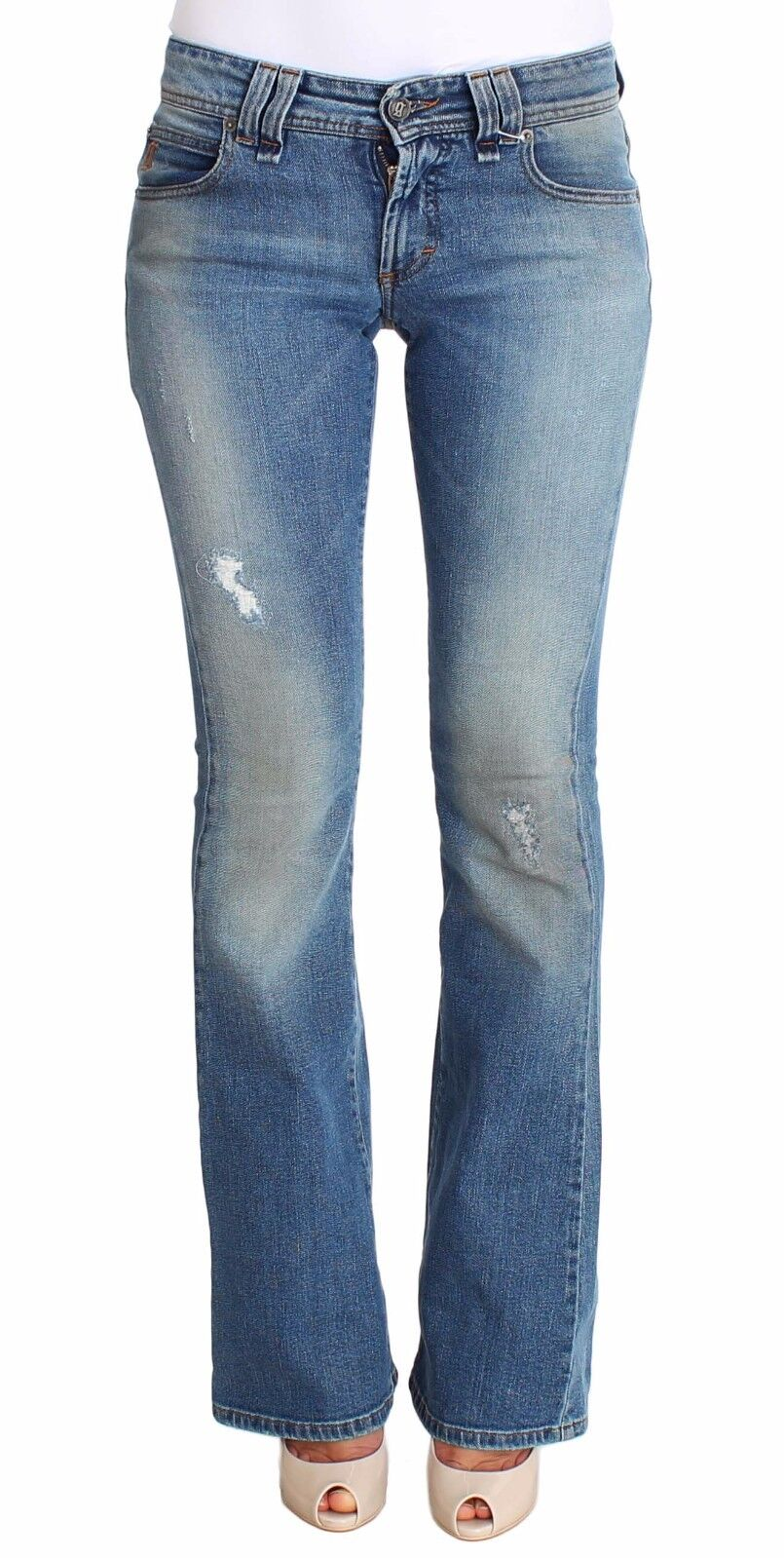 NWT  360 JOHN GALLIANO Jeans bluee Wash Cotton Stretch Flare Bootcut W26   IT40