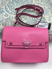 "Guess handbag Crossbody Shoulder Bag 7""x9""x3"" Pink Color 100% Authentic NEW$145"