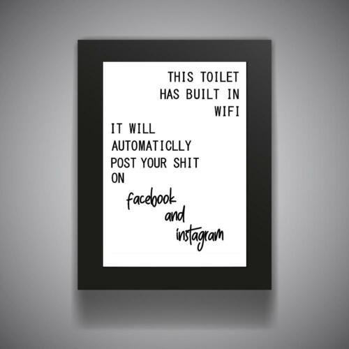 FUNNY BATHROOM QUOTE Kitchen Print Contemporary Wall Art Poster Toilet Home v4