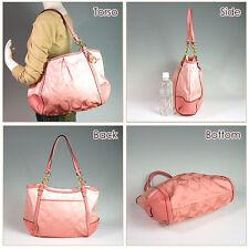 Authentic COACH Alexandra Chain Signature Ombre Bag Shoulder Purse F22527 Peach