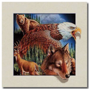 North-American-animals-5D-Lenticular-Holographic-Stereoscopic-Picture-Wall-Art