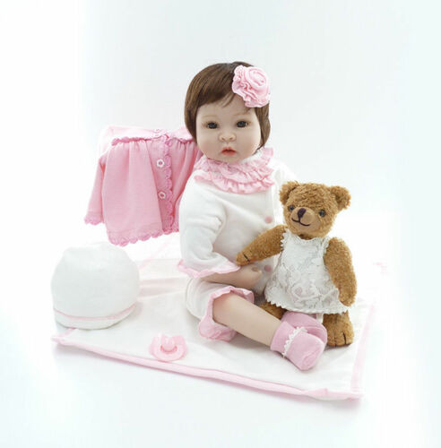 22/'/' New Handmade Silicone vinyl adora Lifelike toddler Baby Bonecas girl doll