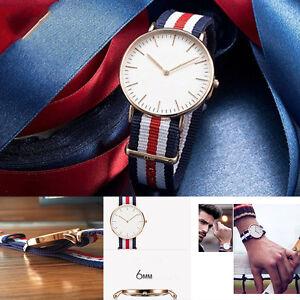 Women-039-s-Lady-Wrist-Watch-Nylon-Bracelet-Stainless-Steel-Analog-Quartz-Fashion