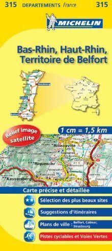 Carte DPARTEMENTS Bas-Rhin, Haut-Rhin, Territoire de Bel... | Buch | Zustand gut