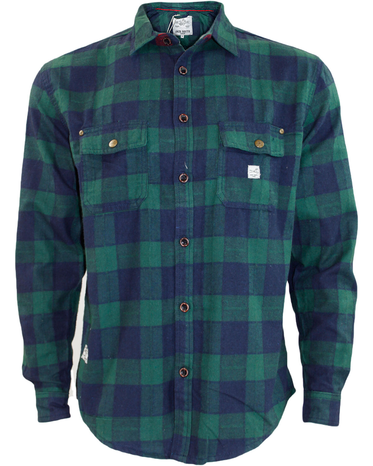 New mens jacksouth quality flannel lumber jack casual 100 for 100 cotton work shirts