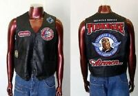 Tuskegee Airmen Red Tails Leather Vest Jacket Xl-4xl Redtails Motor Cycle Vest