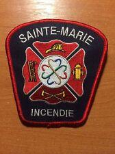 CANADA PATCH FIRE EMERGENCY INCENDIE SAINTE MARIE - ORIGINAL!