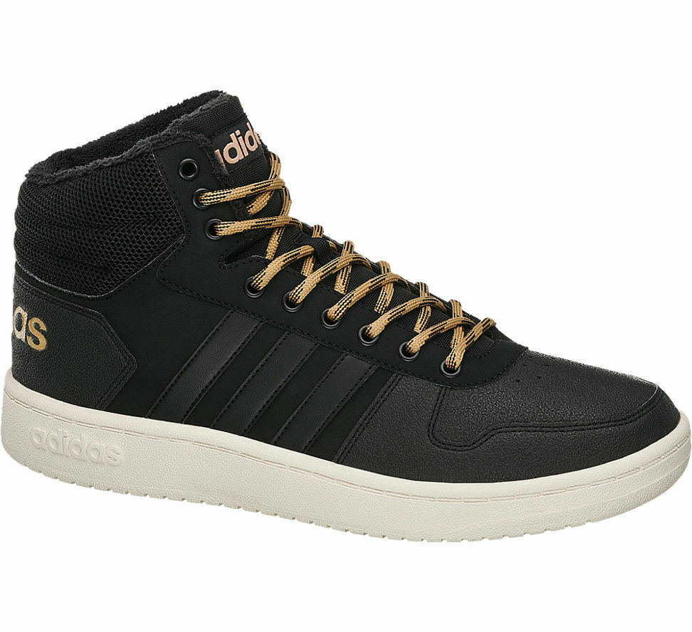 Adidas Herren Mid Cut Hoops 2.0 Mid schwarz Neu