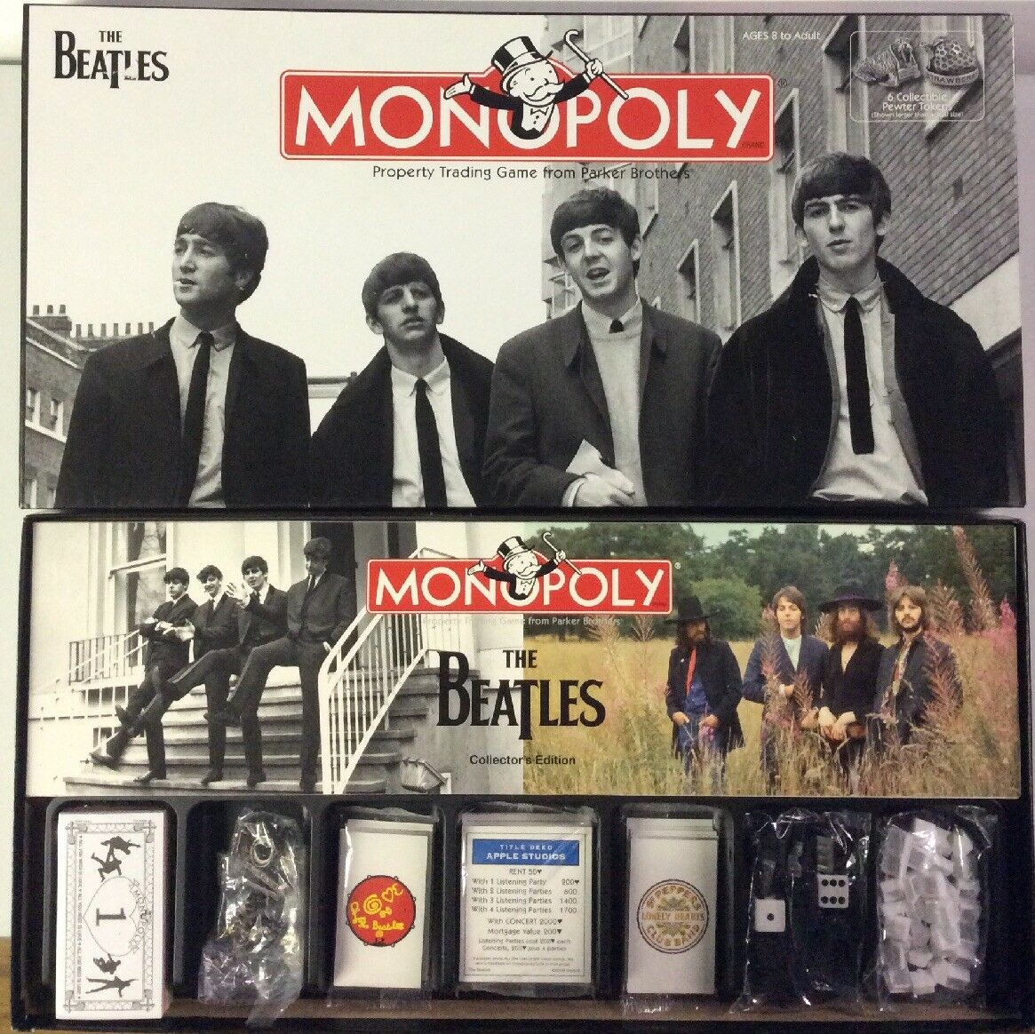 Monopoly The Beatles Collector's Collector's Collector's Edition With Collectable Pewter Tokens 4159ca