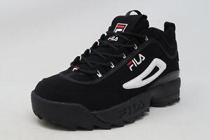 FILA-Disruptor-II-Black-Nubuck-Lace-Up-Sneakers-Adult-Men-Shoes