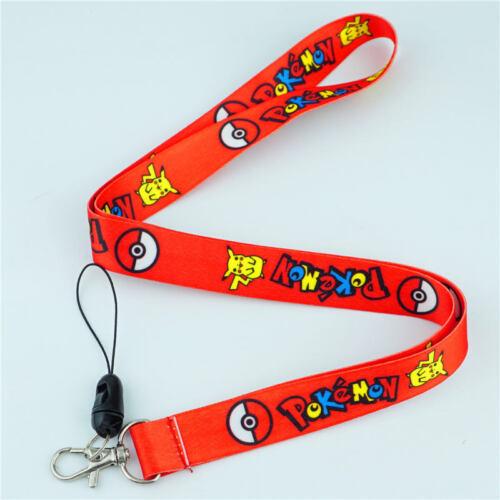 Pokemon Pikachu Lanyard Neck Strap Cartoon Cell Phone Rope KeyChain ID Card Gift